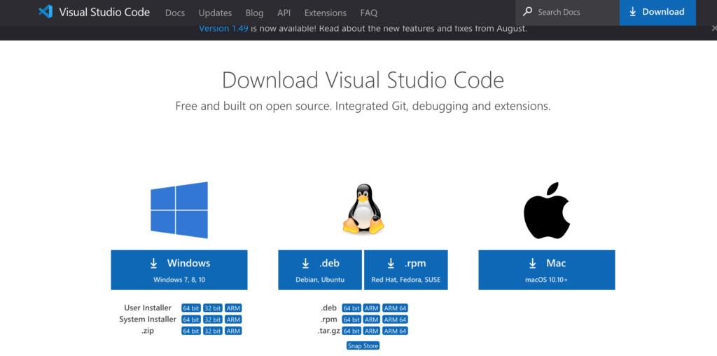 VSCodeダウンロード画面 Windows版