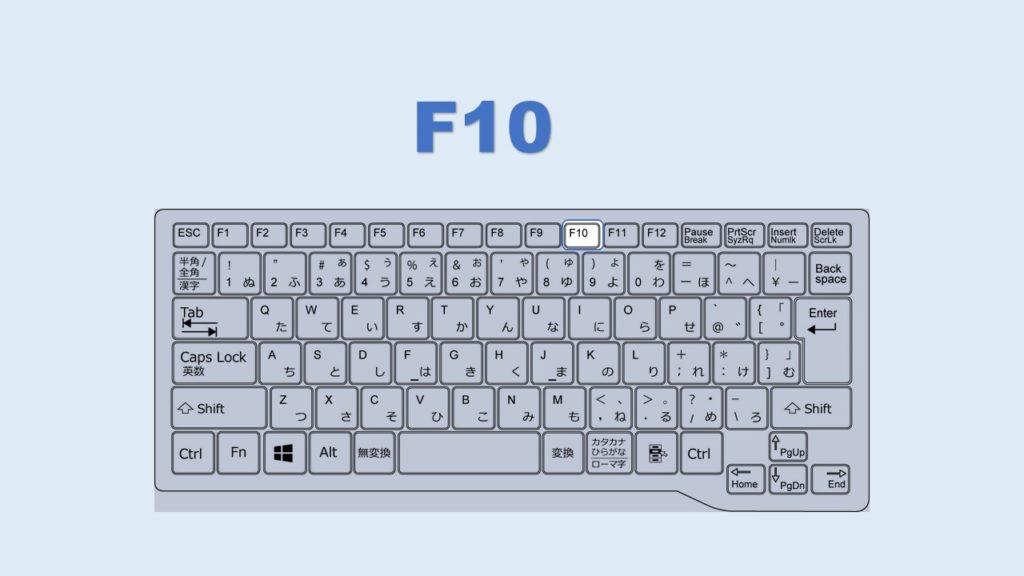 F10 英数字変換 ショートカット